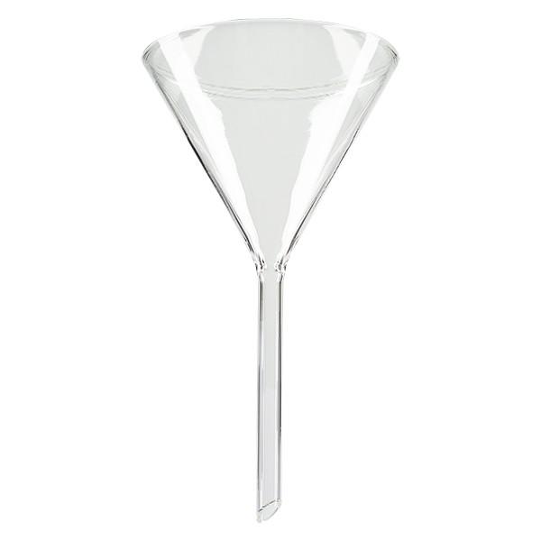 Glazen trechter Ø 80mm - kalk-soda-glas - 60° hoek