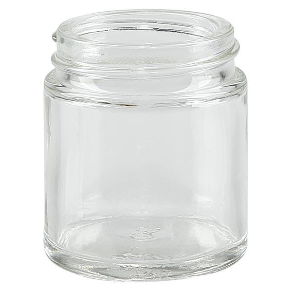 Glazen pot 30ml helder glas 38mm/R3, zonder sluiting